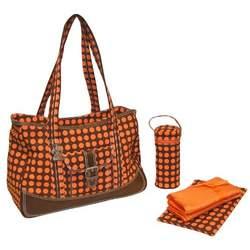 Weekender Diaper Bag in Heavenly Dots Chocolate & Orange