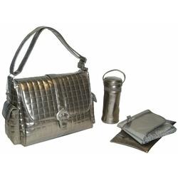 Monique Diaper Bag in Silver