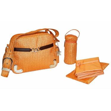 Tania Diaper Bag in Orange
