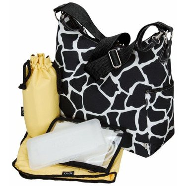 Black Giraffe Classic Hobo Diaper Bag