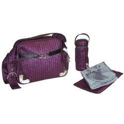 Tania Diaper Bag in Eggplant