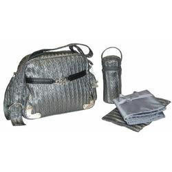 Tania Diaper Bag in Silver