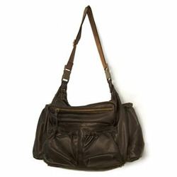 egg by Susan Lazar Faux-Leather Diaper Bag - Brown