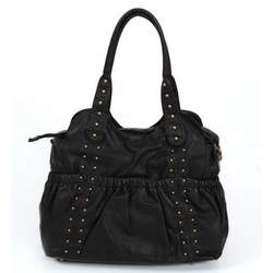 Black Studded Diaper Tote