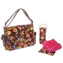 Dandelion Berries LAMINATED BUCKLE BAG
