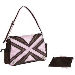 Hannah's Messenger Bag Chocolate/Pink