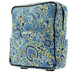 Bumble Bags Madeline Backpack in Kaleidascope Blue