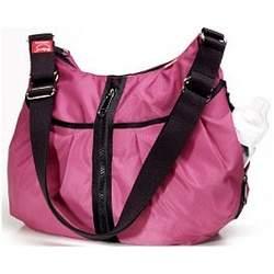 BabyMel Amanda Zipper Diaper Bag - Cerise