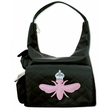 MY FLAT IN LONDON DIAPER BAG PINK BEE 3 POCKETS