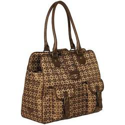 Amy Michelle Gladiola Diaper Bag Chocolate Jaquard Diaper Bags