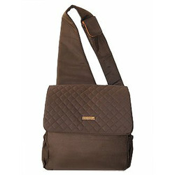 Sling Diaper Bag in Quilted Brown