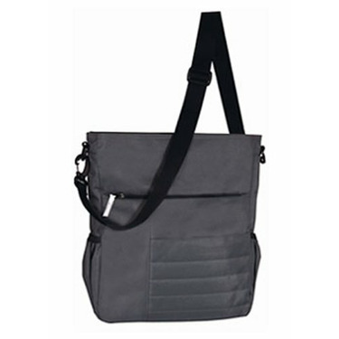 Madison Avenue Diaper Bag Charcoal with Galaxy Red Print Lining