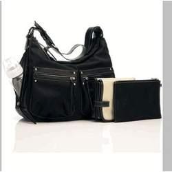 "NEW! Storksak ""Emily"" Diaper Bag in Black - Free Shipping"
