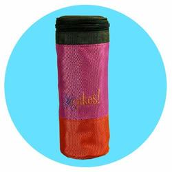 O Yikes Designer Messenger Diaper Bag in Red Orange