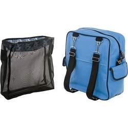 Dahlia Backpack Diaper Bag in Blue Bouquet