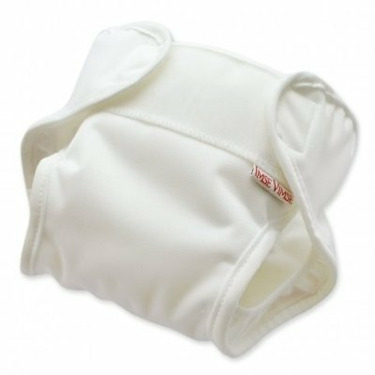 Imse Vimse White All-In-One Diaper - Small