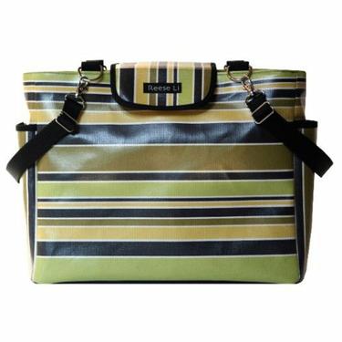 Lexington Black Stripe Diaper Bag by Reese Li