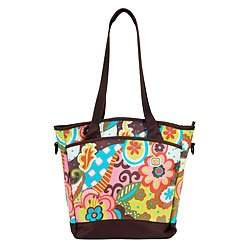 Sling Tote Diaper Bag in Fiesta Flower