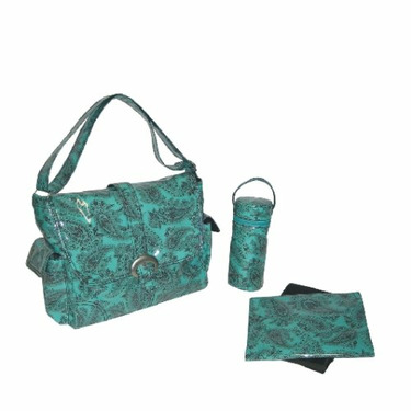 Laminated Buckle Bag - Peggy Paisley Turquoise