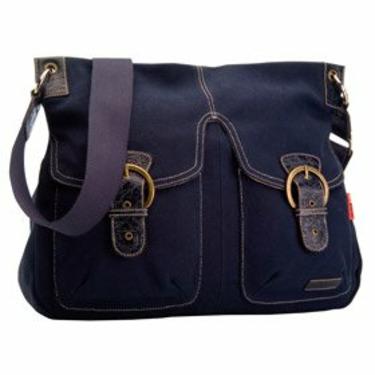 Jess Red Label Messenger Diaper Bag - Navy Blue