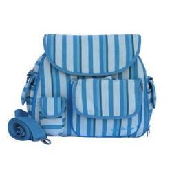 Blue Strips Diaper Bags
