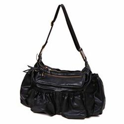 egg by Susan Lazar Faux-Leather Diaper Bag - Black