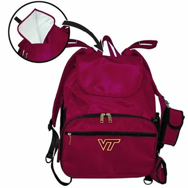 Virginia Tech University VT Hokies Travel Backpack Diaper Bag