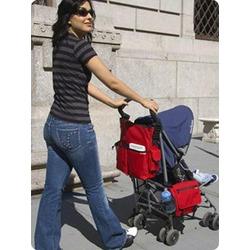 Saddlebag Diaper Bag in Red