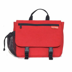Saddlebag Diaper Bag in Red