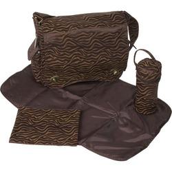 Scallop Messenger Bag - Safari Fantasy