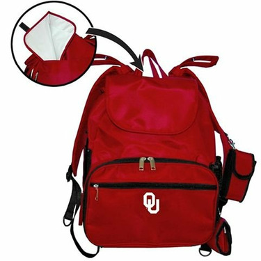 University of Oklahoma Sooners OU Travel Backpack Diaper Bag