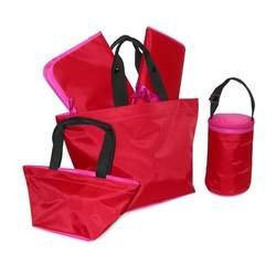 Cayenne Berry Diaper Tote - Five Piece Set