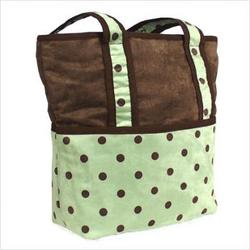 Dots Green Tote Diaper Bag