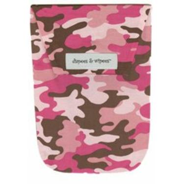 Diapees and Wipees Accessory Bag - Flamingo Camo