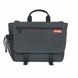 Saddlebag Diaper Bag in Charcoal