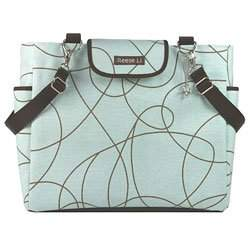 Blueberry Doodle Lexington Diaper Bag by Reese Li