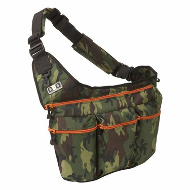 Diaper Dude Camouflage Diaper Bag with Orange Zippers (Camouflage With Orange)
