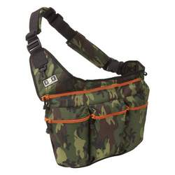 Diaper Dude Camouflage Diaper Bag with Orange Zippers (Camouflage With Orange)