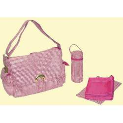 A Step Above Buckle Diaper Bag in Pink Jackie O