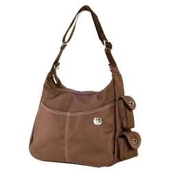 Fleurville Re-Run Hobo Diaper Bag in Chocolate