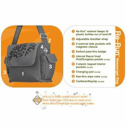 Fleurville Re-Run Messenger Diaper Bag in Teal GeoBot