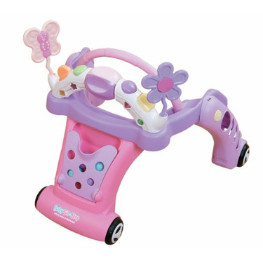 Kolcraft Baby Sit and Step 2-In-1 Activity Center, Pink