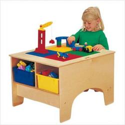 KYDZ Building Table - Duplo Compatible with Tubs Tub Color: Clear