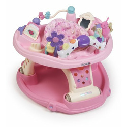 Kolcraft Baby Sit and Step 2-in-1 Activity Center in Flutter Love