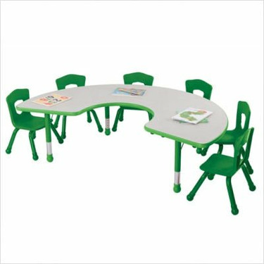 Classroom Horseshoe Table Color: Grass Green
