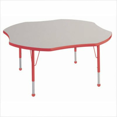 """48"""" Clover Color Banded Adjustable Height Activity Table Frame Color: Black, Leg Height: 23"""""""