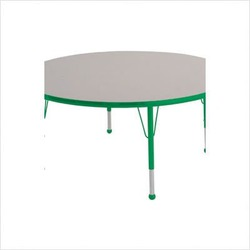 "48"" Round Color Banded Adjustable Height Activity Table Frame Color: Green, Leg Height: 23"""