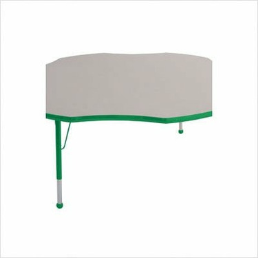 """60"""" Flower Color Banded Adjustable Height Activity Table Frame Color: Green, Leg Height: 30"""""""