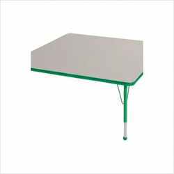"""48 """" x 48"""" Square Color Banded Adjustable Height Activity Table Frame Color: Green, Leg Height: 23"""""""