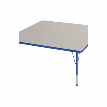 "48 "" x 48"" Square Color Banded Adjustable Height Activity Table Frame Color: Blue, Leg Height: 23"""